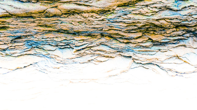 Sedimentary rocks - colourful rock layers formed through cementation and deposition - abstract graphic design backgrounds, patterns, textures