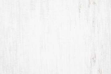 White painted wood texture seamless rusty grunge background, Scratched white paint on planks of wood wall. Fototapete