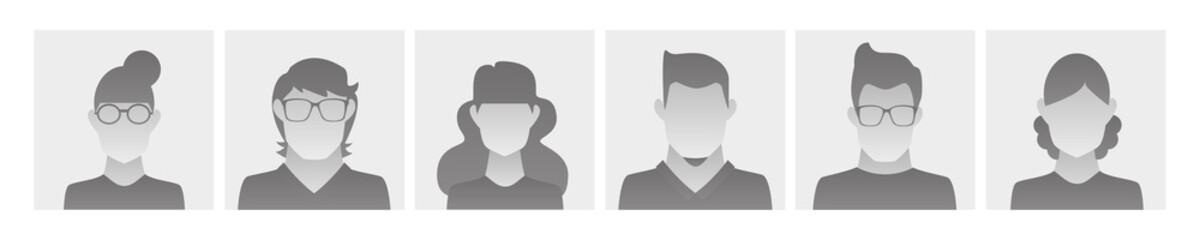 basic avatar profile pictures for social media Fototapete