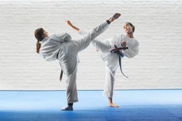 Girl train self-defense