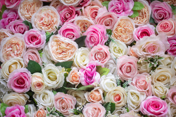 pattern of colorful roses
