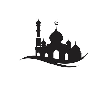 Mosque Moslem icon vector Illustration