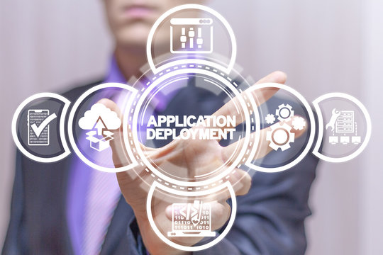 Application Deployment Web App Development SEO concept. Website Source Coding Debugging Technology.