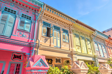 Fototapete - Historical buildings in Joo Chiat Road, Singapore