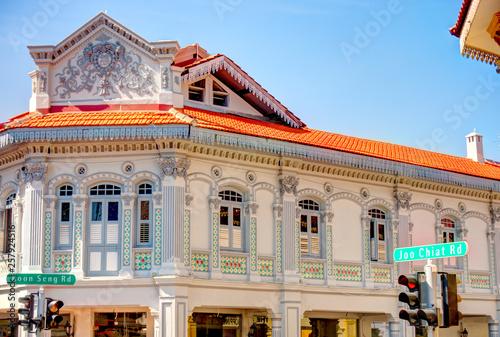 Wall mural Historical buildings in Joo Chiat Road, Singapore