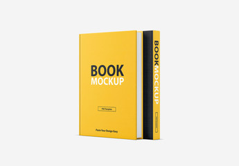 2 Textured Book Covers Mockup
