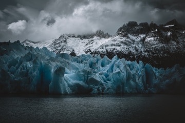 Blue Ice at Grey Glacier