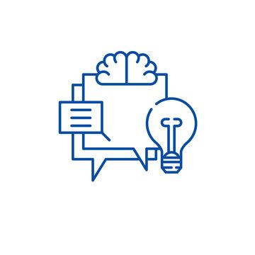 Hr metric line concept icon. Hr metric flat  vector website sign, outline symbol, illustration.