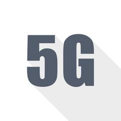 5G mobile, internet, technology  icon, vector illustration