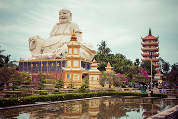 Vinh Tranh Pagoda in My Tho, the Mekong Delta, Vietnam.