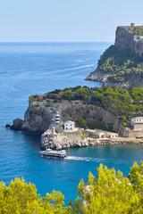 Wall Mural - Lighthouse in Port de Soller Majorca, Spain.