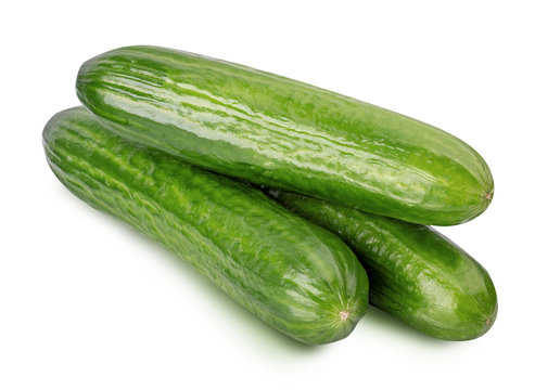 Cucumber isolated on whitebackground. Clipping path