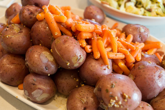 Boiled Potatoes and Carrots for St. Paddy's Day Dinner