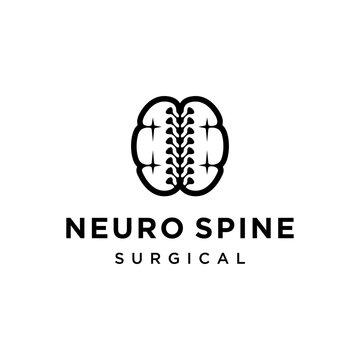 neuro spine mind surgical logo design template