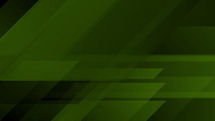 Dark green tech abstract geometric background Wall mural