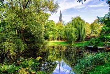 the university botanical garde, park - Strasbourg, France