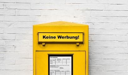 Keine Werbung! Briefkasten