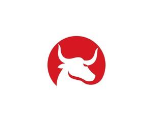 Bull horn logo vector