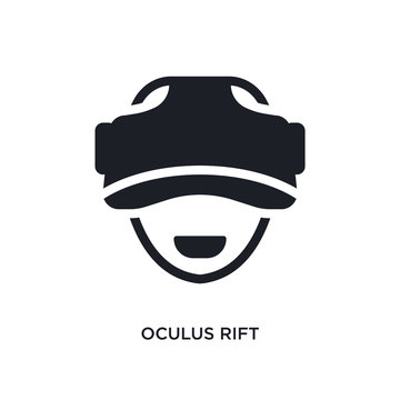 oculus rift isolated icon. simple element illustration from artificial intellegence concept icons. oculus rift editable logo sign symbol design on white background. can be use for web and mobile