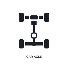 car axle isolated icon. simple element illustration from car parts concept icons. car axle editable logo sign symbol design on white background. can be use for web and mobile
