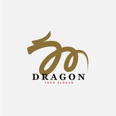 Vector East Asian dragon sign icon