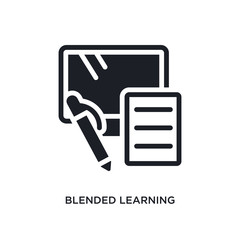 blended learning isolated icon. simple element illustration from e-learning and education concept icons. blended learning editable logo sign symbol design on white background. can be use for web and