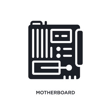 motherboard isolated icon. simple element illustration from electronic devices concept icons. motherboard editable logo sign symbol design on white background. can be use for web and mobile