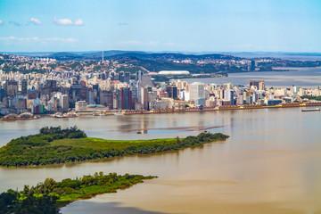 aerial view of Porto Alegre in Brazil