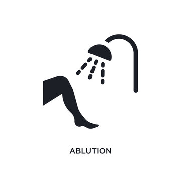 ablution isolated icon. simple element illustration from hygiene concept icons. ablution editable logo sign symbol design on white background. can be use for web and mobile