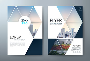 Annual report brochure flyer design, Leaflet presentation, book cover templates, layout in A4 size. vector. - fototapety na wymiar
