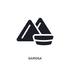 samosa isolated icon. simple element illustration from india and holi concept icons. samosa editable logo sign symbol design on white background. can be use for web and mobile