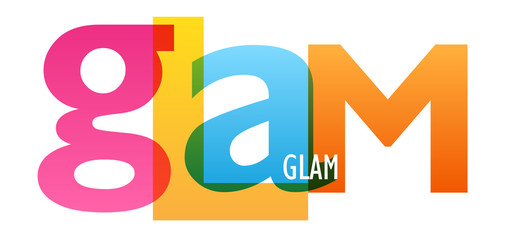 GLAM colorful typography banner