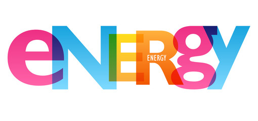 ENERGY colorful typography banner