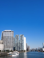 Fototapete - 天王洲アイルと臨海エリアの高層マンション