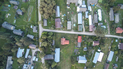 view of the village from above, pictures from the drone