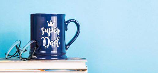 Men's accessory gift for Father's Day - a blue cup with the inscription