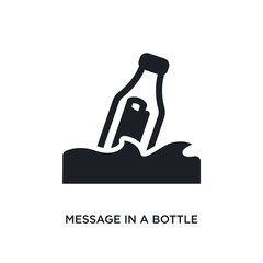 message in a bottle isolated icon. simple element illustration from nautical concept icons. message in a bottle editable logo sign symbol design on white background. can be use for web and mobile