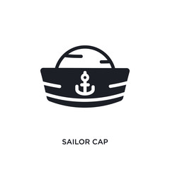sailor cap isolated icon. simple element illustration from nautical concept icons. sailor cap editable logo sign symbol design on white background. can be use for web and mobile