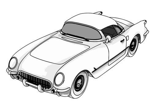 sports retro car vector