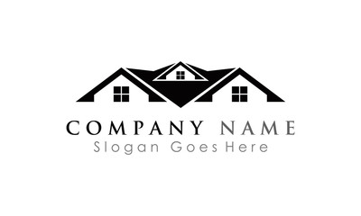 elegant house logo vector
