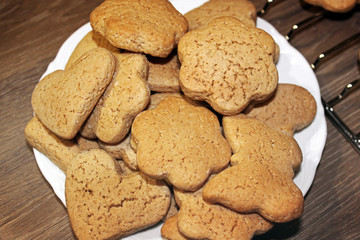 Cookies on a plate. Bakery products Wall mural