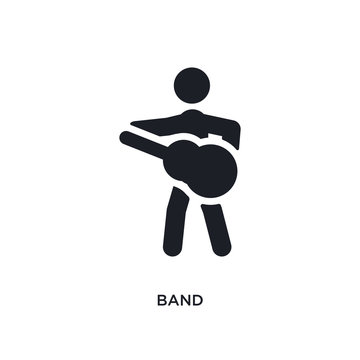 band isolated icon. simple element illustration from ultimate glyphicons concept icons. band editable logo sign symbol design on white background. can be use for web and mobile