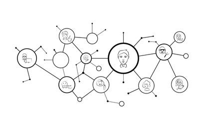 entertainer avatar sketch style icon. From Avatar Profertion set