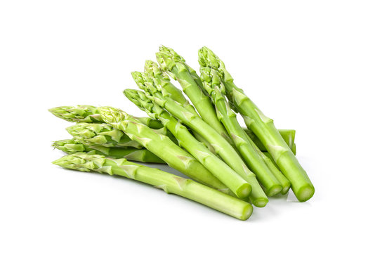Asparagus isolated on white background. full depth of field