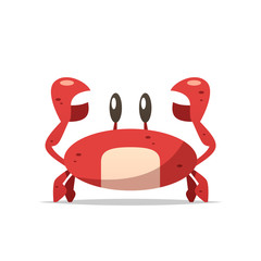 Cartoon crab vector isolated illustration