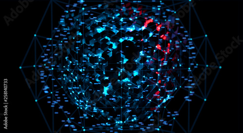 3d rendering abstract illustration of a data channel  Motion