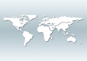 Foto op Aluminium Wereldkaart world map with europe in the centre.