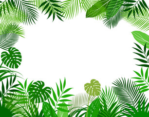 Background material of tropical plants