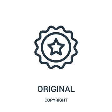 original icon vector from copyright collection. Thin line original outline icon vector illustration.