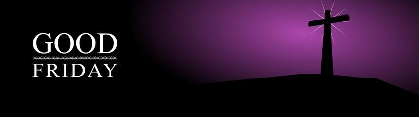 Good Friday, illustration of three cross on a dark background